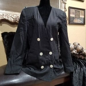 Black with cream colored buttons